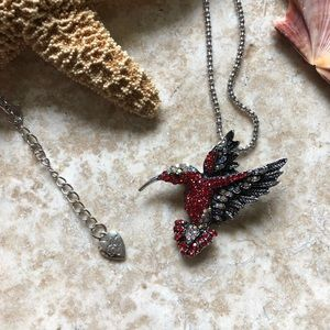 [NWOT] Betsey Johnson Red Hummingbird Necklace